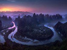 Победитель конкурса панорамной фотографии Epson International Pano 2017. Пейзаж на рассвете в провинции Гуанси в Китае. (Фото Jesus M. Garcia | The Epson International Pano Awards)