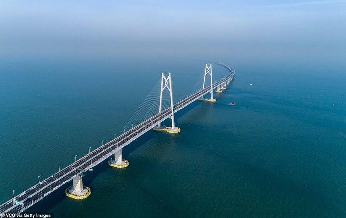 Сегодня в Китае откроют самый длинный мост протяжённостью в 55 км
